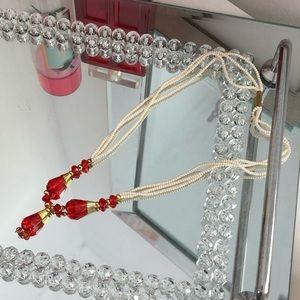 NEW| Faux Pearl Multi Strand Necklace